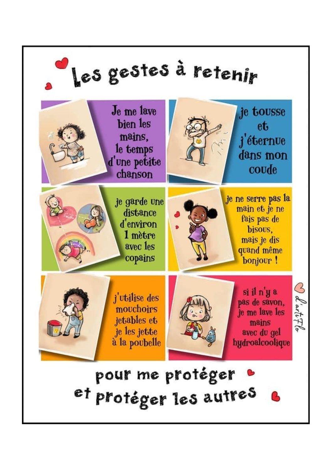 Covid-19 : Apprendre les gestes de protection aux enfants